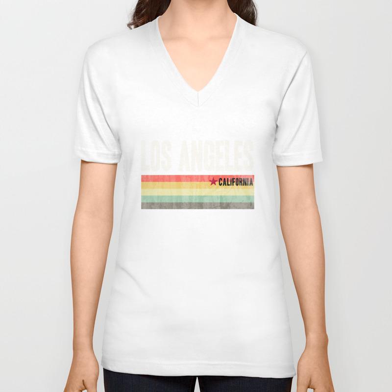 Los Angeles California Design California Republic Design Unisex V-Neck T-shirt by kutees