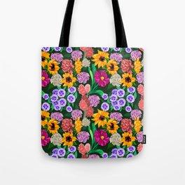 Spring Florals Pattern Tote Bag