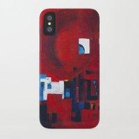 ballon iPhone & iPod Cases featuring Red ballon by Nathalie Gribinski