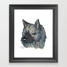 Brush Breeds-Norwegian Elkhound Framed Art Print