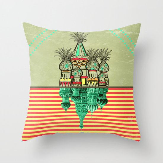 Pineapple architecture  Throw Pillow