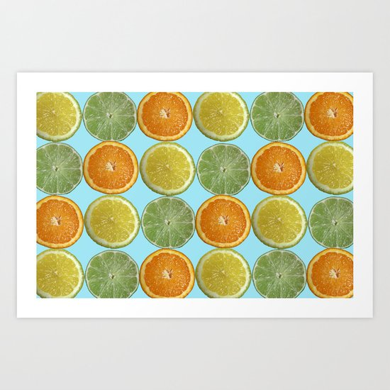 Lemons, Limes, Oranges, Oh my!  Citrus Photography Art Print