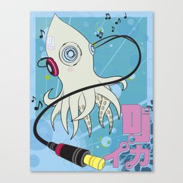 DJ Squid Canvas Print