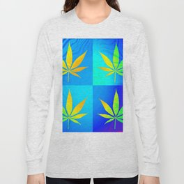 GreenRush - PopLeaf Blue Long Sleeve T-shirt