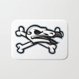 Vulture Skull Mascot Bath Mat
