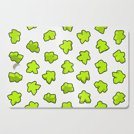 Meeple Mania Lime Pattern Cutting Board