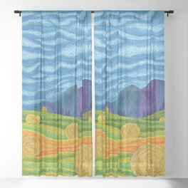 Hay Day Sheer Curtain