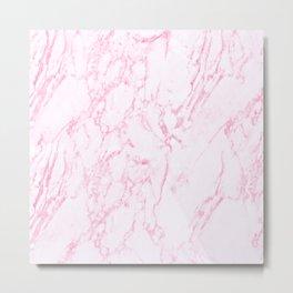 Pink Marble Look Metal Print