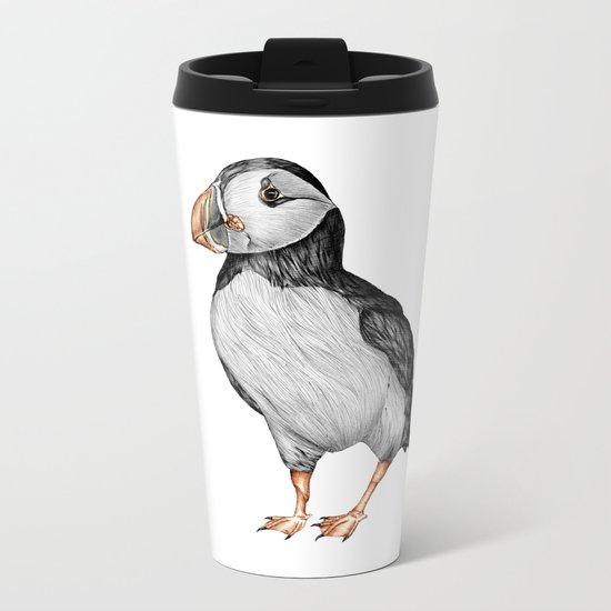 Little Puffin Metal Travel Mug