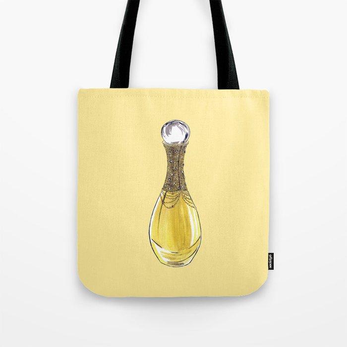 J'adore on Yellow Tote Bag
