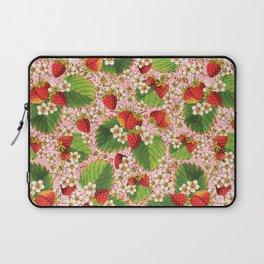 Pink Paisley Strawberries Laptop Sleeve
