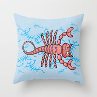scorpio Throw Pillows featuring Scorpio by Giuseppe Lentini