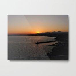 Sunset in Nice, France Metal Print