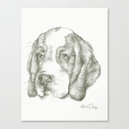 Blueberry the Beagle Canvas Print