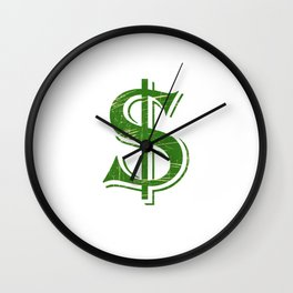 """""""Dollars"""" tee design. Perfect gift to your money lover friends and family. Go grab yours too!  Wall Clock"""