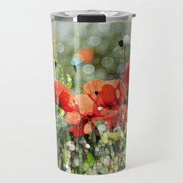 Poppy Mosaic Travel Mug