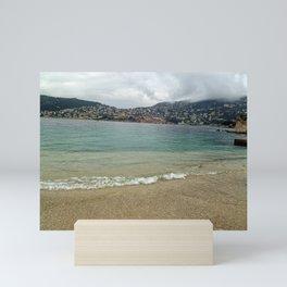 Villefranche Sur Mer and Beach Mini Art Print