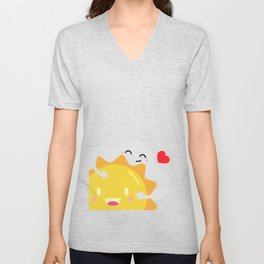 Partly Cloudy and Partly Sunny Love Unisex V-Neck