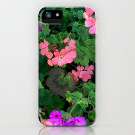 Pink and purple garden iPhone Case