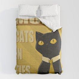 Cats in Ties - PSA Comforters