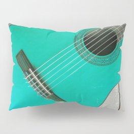 Teal Guitar Pillow Sham