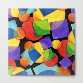 Candy Rainbow Geometric Metal Print