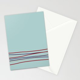 Multi Colored Scribble Line Design Bottom V4 Rustoleum 2021 Color of the Year Satin Paprika & Accent Stationery Cards