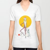 jack skellington V-neck T-shirts featuring Jack Skellington  by Future Illustrations- Artwork by Julie C