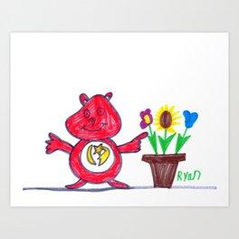 Care Bear's Easter Art Print