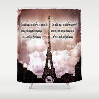 hemingway Shower Curtains featuring Ernest Hemingway by Dan99