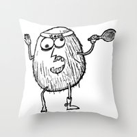 coconut wishes Throw Pillows featuring Coconut by Addison Karl