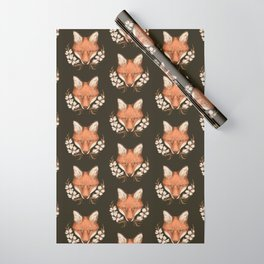 The Fox and Dogwoods Wrapping Paper