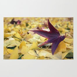 Autumn Sweetgum Leaves Rug
