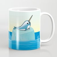 narwhal Mugs featuring narwhal by bunnyandbird