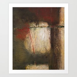 Hanging by the thread Art Print