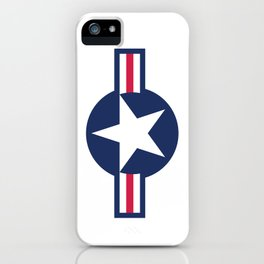 US Airforce style roundel star - High Quality image iPhone Case