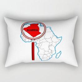 Algeria Under The Magnifying Glass Rectangular Pillow