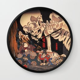Takiyasha the Witch and the Skeleton Spectre, by Utagawa Kuniyoshi Wall Clock