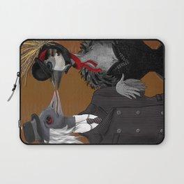 Demoiselle Crane and Grey Crowned Crane Laptop Sleeve