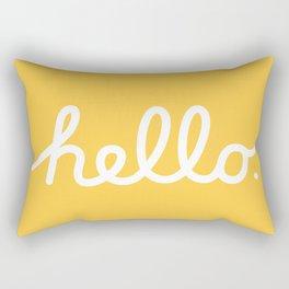 Hello: The Macintosh Office (Yellow) Rectangular Pillow