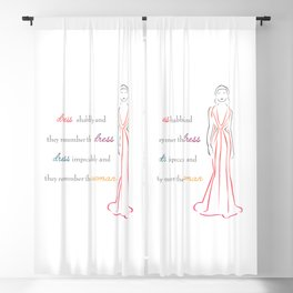 Inspirational quote about fashion Blackout Curtain