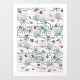 Sea floral print Art Print