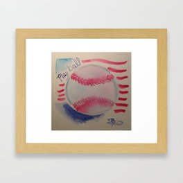 Play ball! Framed Art Print