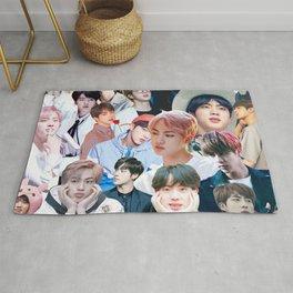 Jin BTS collage Rug