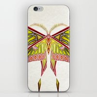 moth iPhone & iPod Skins featuring moth by Manoou