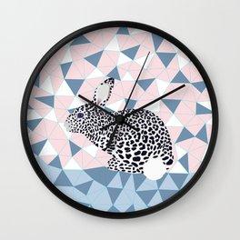 Cute Rabbit Leopard Pattern Design Wall Clock