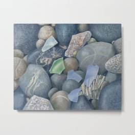 Sea Glass IV Metal Print