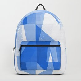 Abstract Blue Geometric Mountains Design Backpack