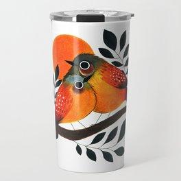 Fluffy Birds Travel Mug