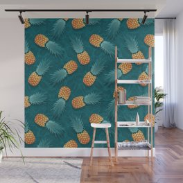 Pineapples swimmers I Wall Mural